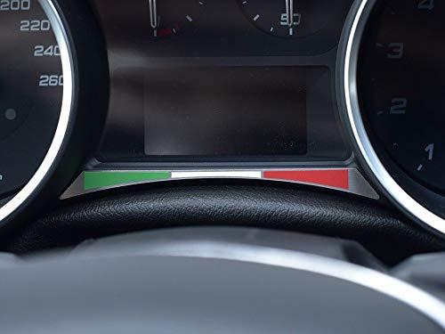 Cubierta De Acero para Alfa_Romeo GIULIETTA - 1 Pieza Placa Bandera Italiana Metal Inox Cepillado Interior Decoración Personalizados Hechos a Medida Tuning