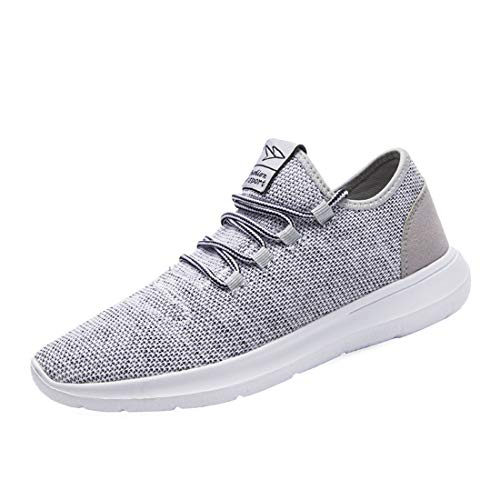KEEZMZ Men's Running Shoes Fashion Breathable Sneakers Mesh Soft Sole Casual Athletic Lightweight Gray-40