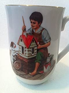 'A Dollhouse for Sis' Cup By Norman Rockwell