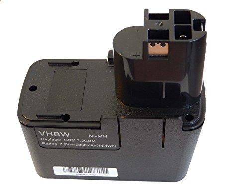 vhbw batería NiMH 2000mAh para herramienta eléctrica Würth ABS 72M-2 y 2607335031,...