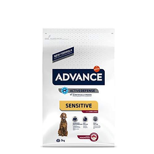 ADVANCE Sensitive - Croquettes pour Chien Adulte Medium-Maxi pour Sensibilités Digestives et Cutanées avec Agneau et Riz - 3kg