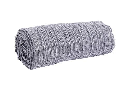 HomeLife - Sofaüberwurf Melange 260 x 260 cm Made in Italy | Tagesdecke für Doppelbett Frühling Sommer | Granfoulard Tagesdecke für Doppelbett | Bettlaken [Grau]