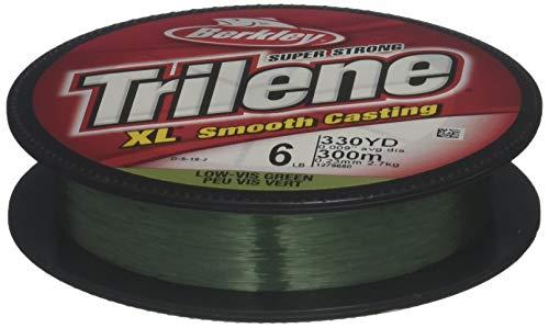 Berkley Trilene XL Smooth Casting Monofilament Service Spools (XLPS4-22), 110 Yd, pound test 4 - Low-Vis Green