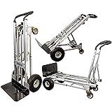 Carretilla multifunción 3 en 1, máx. 454 kg, aluminio, plegable, transporte de mano