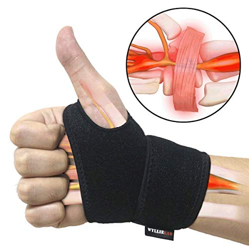 Wrist Brace for Carpal Tunnel, Comfortable and Adjustable Wrist Support Brace for Arthritis and Tendinitis, Wrist Compression Wrap with Pain Relief, Fit for Both Left Hand and Right Hand – Single