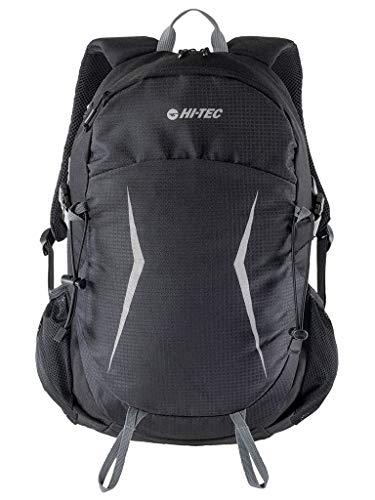 Hi-Tec XLAND Wanderrucksack Trekkingrucksack Taktischer Rucksack # Freizeitrucksack Damen Herren Teenager 18L (schwarz, 18 L)