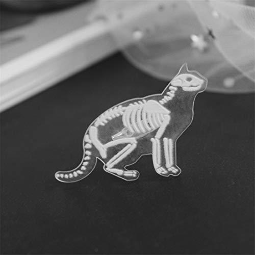 LGJJJ Unisex Kunststoff Tier Skelett Brosche Kreative Einzigartige Stil Kaninchen Pinguin Transparent Corsage Pin Harz Brosche, Kat