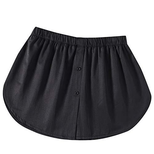 Lenfeshing Mujer Extensor de Camisa Minifalda de Mujer Cola de Camisa Falsa Falda con Dobladillo de Blusa Falda Enagua Desmontable