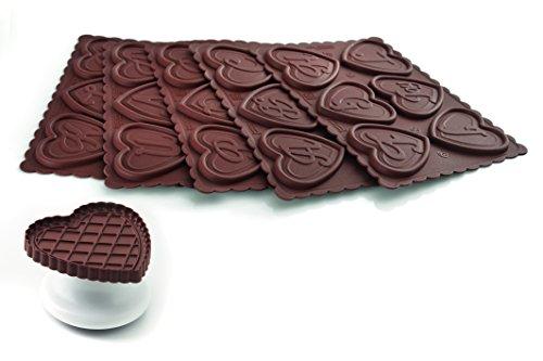 Silikomart 25.167.77.0065 Cookie ABC Kit de Pâtisserie Marron