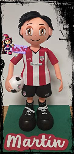 Muñeco fofucha Athletic de Bilbao 26 cms. fútbol equipación