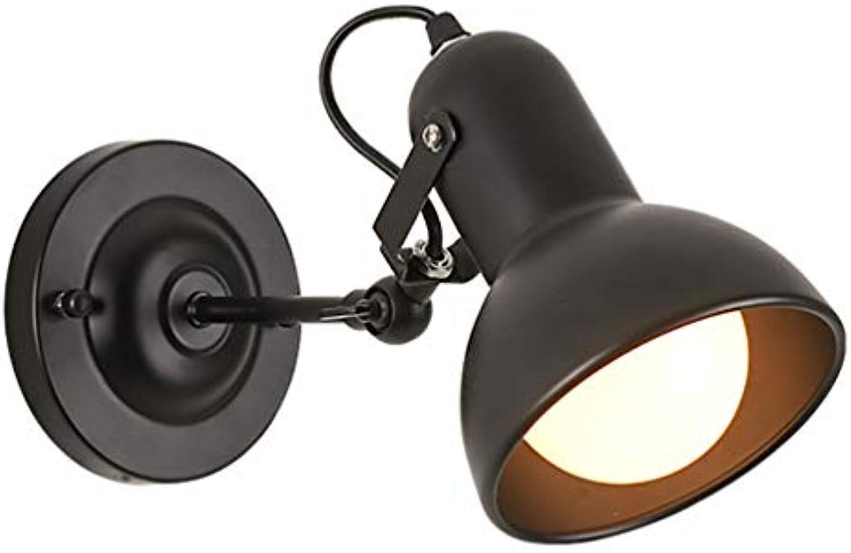 Vintage kreativ Wandleuchte Schwarz Verstellbar Metall Wandlampe Innen Leseleuchte Nachttischlampe LED für Esszimmer Treppen Korridor Window Bar