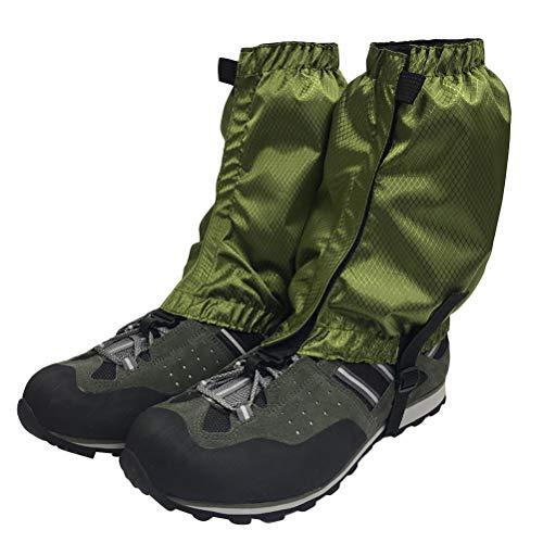 VORCOOL 1 Paar Schnee Gamaschen Leichte Wasserdichte Knöchel Gamaschen für Outdoor Wandern Klettern (Dunkelgrün)