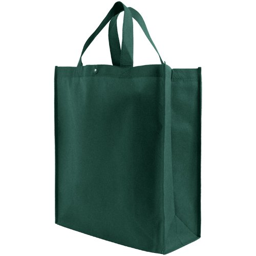 Reusable Grocery Tote Bag Large 10 Pack - Hunter Green