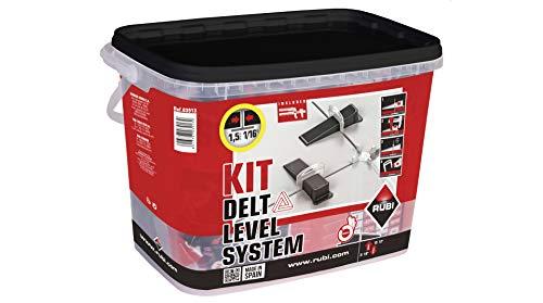 Rubi Bridas de nivelación 0,5 mm Delta Level System, para baldosa cerámica (grosor de 3 mm a 12 mm) - Caja de 2400 unidades, Blanco