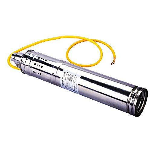 【Especial de Año Nuevo 2021】Bomba de agua sin escobillas de 500W DC, bomba de agua de pozo profundo sumergible solar sin escobillas de 24V 50M 3m³ / H DC