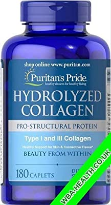 PURITAN'S Pride HYDROLYZED Collagen 1000 MG 180 CAPLETS Fast Dispatch (596)