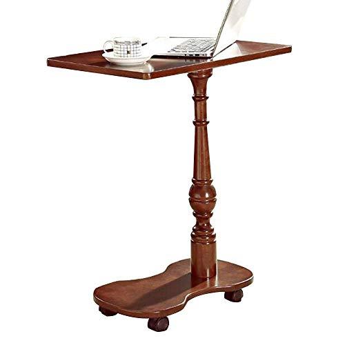 N/Z Living Equipment Computadora móvil Mesa de bolígrafo con Ruedas Mesa de Noche de Madera Maciza Americana Banco de Trabajo