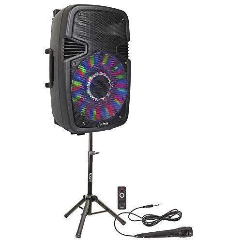 "PARTY PARTY-15PACK SOUNDSYSTEM 15\"" AKTIVBOX 800W USB BLUETOOTH RADIO STATIV MIKROFON PARTY DJ SOUNDSYSTEM BESCHALLUNGSANLAGE LAUTSPRECHER"