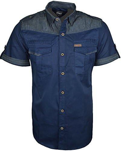 para Hombre Funda rígida para Tela Vaquera Moda Camisas de ...