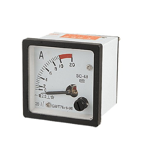 0-10A Analog Current Panel Meter Amperemeter AC SQ48 Gauge de