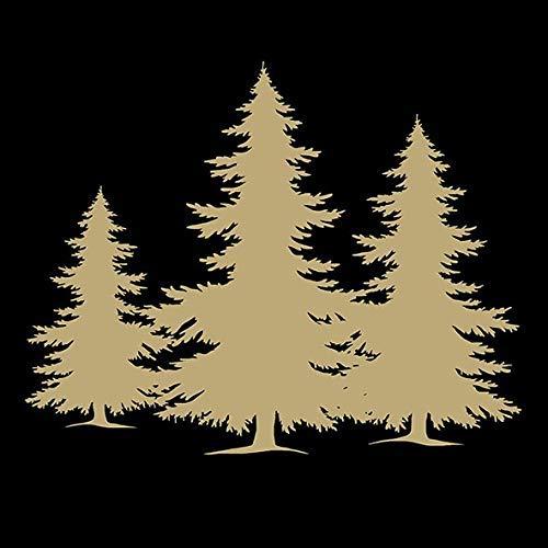Ambiente – Lot DE 20 Serviettes – 3 Plis, 33 x 33 cm – Arbres Silhouette Noir/doré