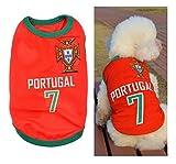 Camiseta de fútbol para perro de la Copa del Mundo de la Copa del Mundo de Fútbol Nacional Ropa de Perro para Cachorro Gato