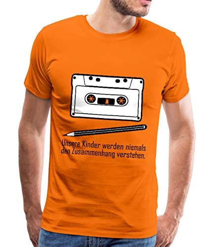 Zusammenhang Tape Bleistift Männer Premium T-Shirt, XL, Orange