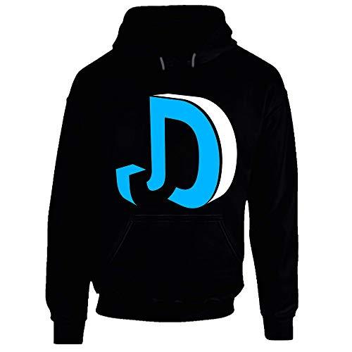 Sudadera con capucha con logotipo JD