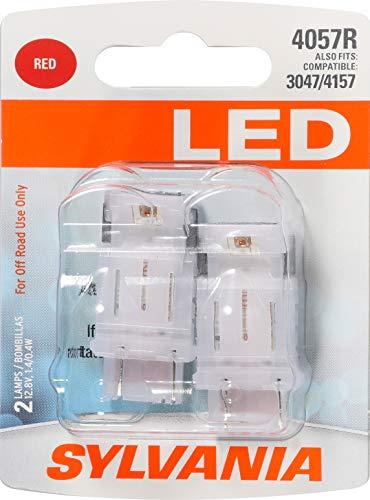 SYLVANIA 4057 Red LED Bulb, (Contains 2 Bulbs)