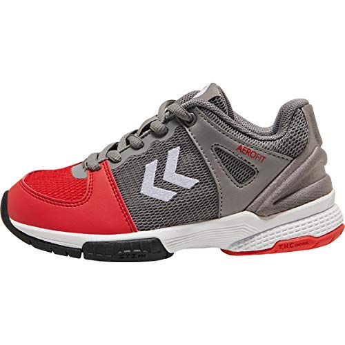 hummel Aerocharge HB 200 3.0 Trophy Trainingsschuh Kinder grau/rot, 7 US - 40 EU - 5 UK