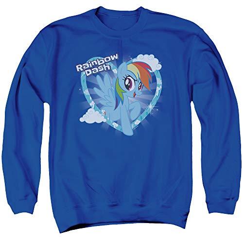 Adults Rainbow Dash Sweatshirt, Unisex S to 3XL