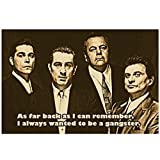 sunhanxu Goodfellas Movies Quote Poster Robert De NIRO Ray