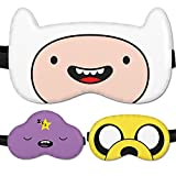 Kid Sleepmask for Children- Sleeping mask Cover 100% Soft Cotton - Comfortable Eye Sleeping Mask Night Cover Blindfoldfor Travel Airplane (Finn White, Gift Pack)