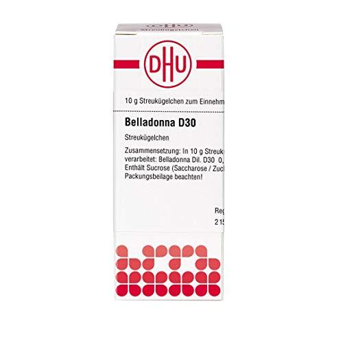 DHU Belladonna D30 Streukügelchen, 10 g Globuli