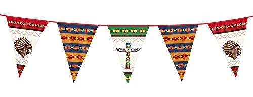 Boland 44101 - Striscione Ghirlanda Bandierine Indiani, 6 Metri, 45 x 30 cm