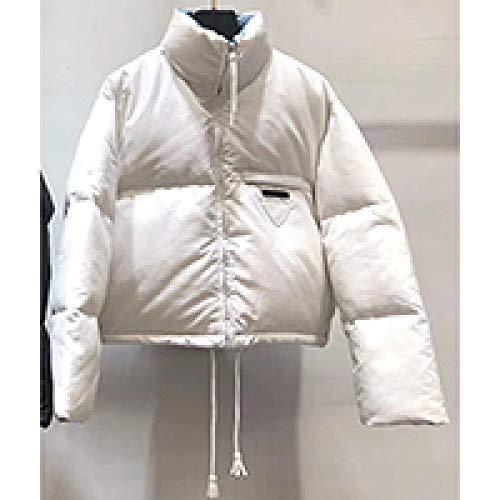 DPKDBN dames donsjack, winter vrouwen zwart warm wit eendendons mode korte jas