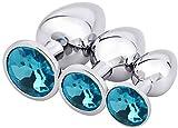 Kit de entrenamiento de acero inoxidable Ànâles-Jewelry Bûtt Pl'ugs Set para principiantes para mujeres y hombres (azul)