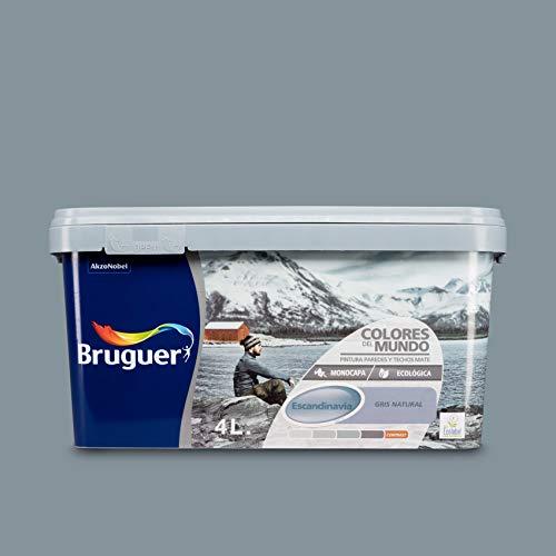 Bruguer 8429656023706 Colores del Mundo Pintura para paredes monocapa Escandinavia Gris Natural 4 L
