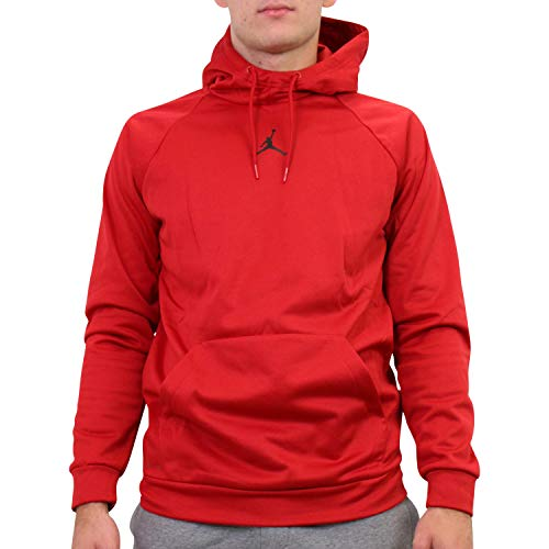 Nike M J 23alpha Therma FLC Po Long Sleeve Top, Herren XXL rot/schwarz (Gym Red/Black)