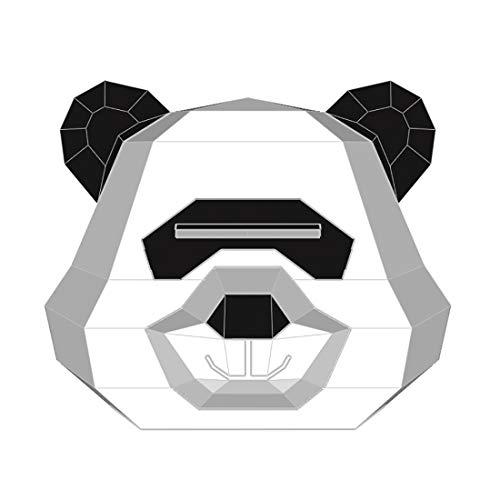 Songlin@yuan creatief panda masker Muffa DIY Grappige Cos Full Face papieren kop voor dieren Fatta aan de zijkant van de Halloween Masquerade Mask Copricapo Afmetingen: 34 x 26,9 x 34