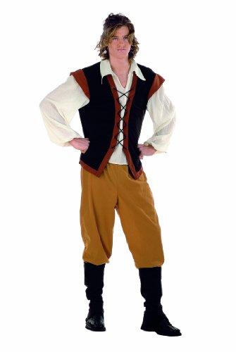 Costume da Contadino Medievale - Costume Medievale Uomo -Travestimenti Larp- Feste A Tema - L