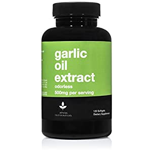 NON-GMO ODORLESS GARLIC OIL - A premium option with no fillers or additives! A premium odorless garlic oil supplement designed to provide all the benefits of garlic oil capsules without the odor! AT ATHELAS NEUTRACEUTICALS, we believe in healthy supp...