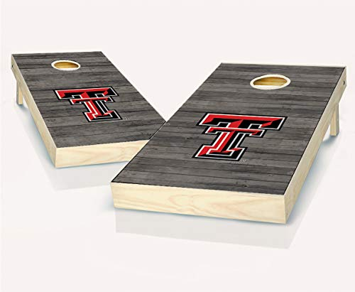 "NCAA Texas Tech Red Raiders Distressed Cornhole Set with Bags, 24"" x 48"", Red"