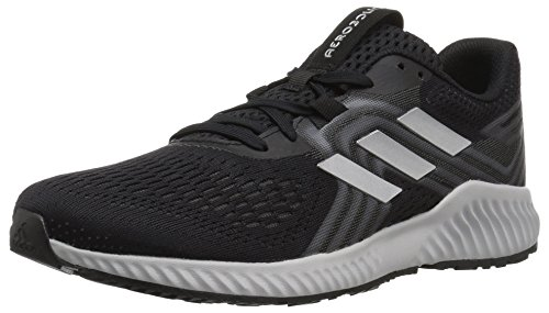 adidas Women's Aerobounce 2 Running Shoe, Black/Silver Metallic/Grey, 8 M US