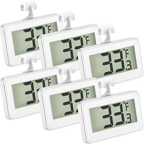 Refrigerator Thermometer Digital Freezer Thermometer Room Fridge Thermometer LCD Display Waterproof product image