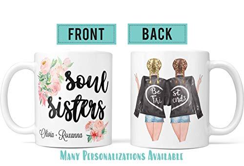 Pretty Phoxie Sister Coffee Mug Sister Mug Soul Sister Mug Personalized Friends Mug Best Friend Gifts Distance Best Friend Birthday Gifts Best Friend Gifts Personalized Best Friend Gifts