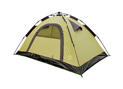 EXPLORER Flash 2 Automatikzelt ** in Sekunden aufgebaut - Schirm Prinzip! ** integriertes Gestänge 210x140x105cm 2 Personen 1500mm Wassersäule einwandiges Zelt Schirm Camping Outdoor Wandern Familie