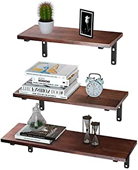 EKNITEY Set of 3 Floating Shelves Wall Mounted