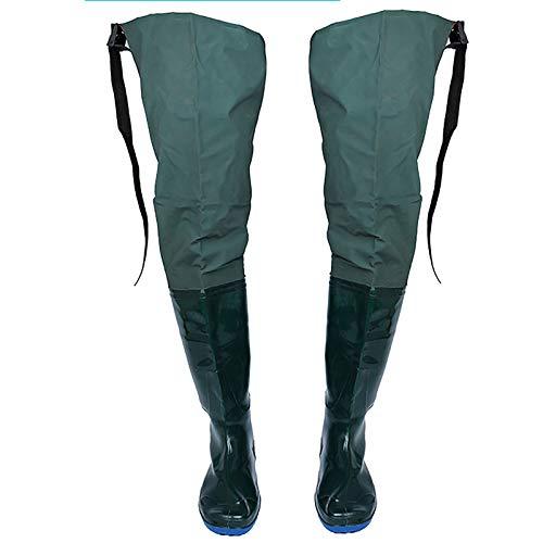 SSDM Hip Wader, Leichter Hip Boot Für Männer Und Frauen, 2-Lagiger PVC/Nylon Fishing Hunting Bootfoot, Army Green,38