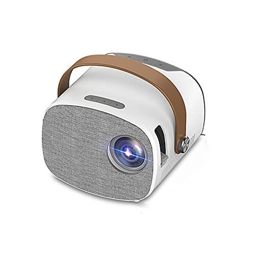 Mini proyector de Video, proyector de Cine en casa portátil LED 1080P Compatible, Compatible con PS4, PC a través de HDMI, VGA, TF, AV y USB, para niños
